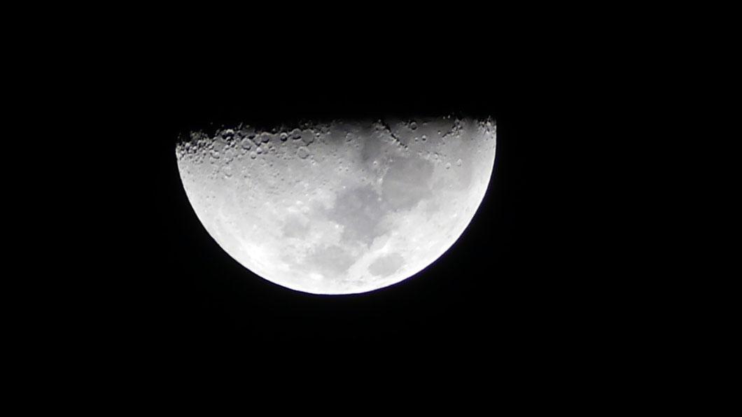Mond über Curaçao (Originalansicht)