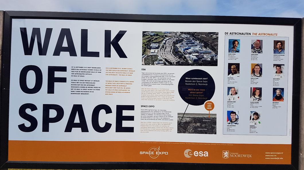 """""""Walk of Space"""" Boulevard Noordwijk aan Zee/Niederlande"""