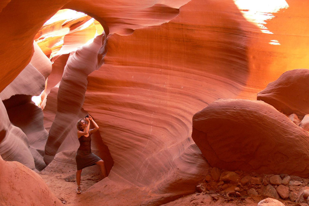 das Farbenspiel im Antelope Canyon...