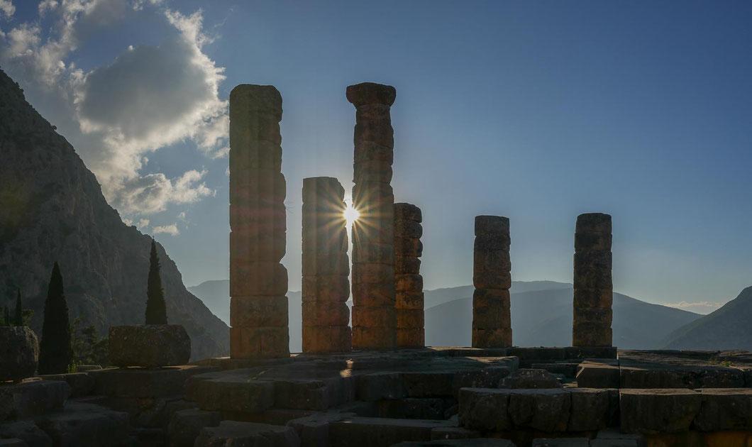 Griechenland Delphi Morgensonne