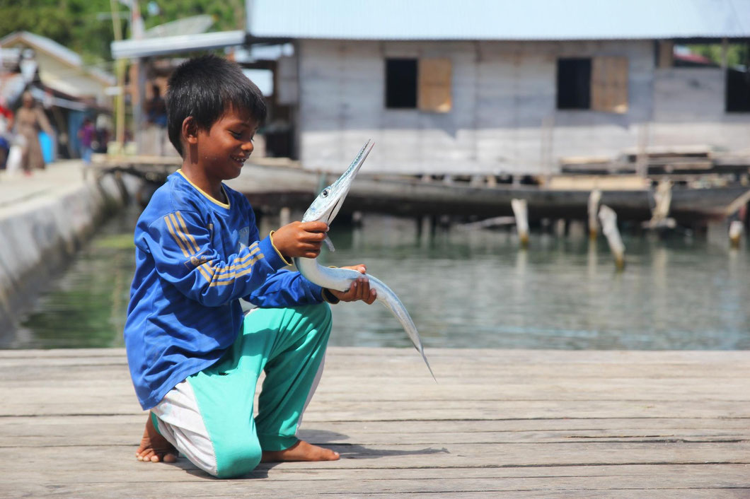 Anglerglück , Steeg der Insel Haloban