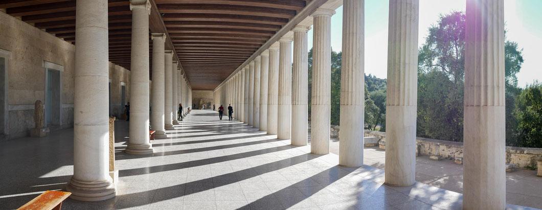 in der Agora, am Fuße des Akropolis Hügels, philosophierte schon Sokrates