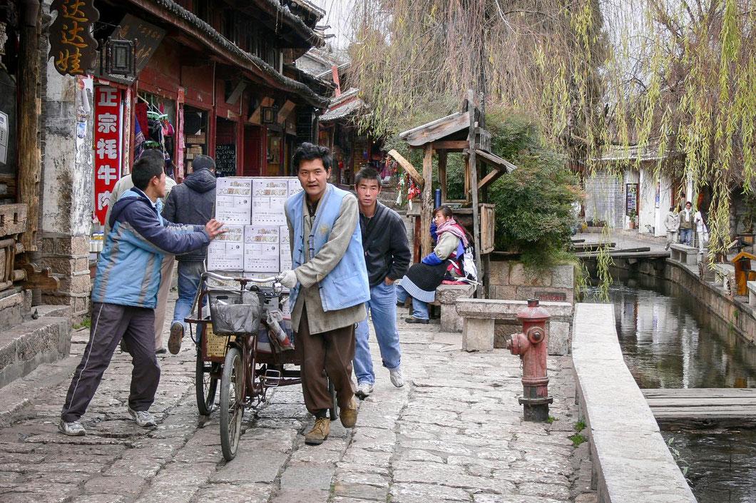 Straßenszene in Lijiang