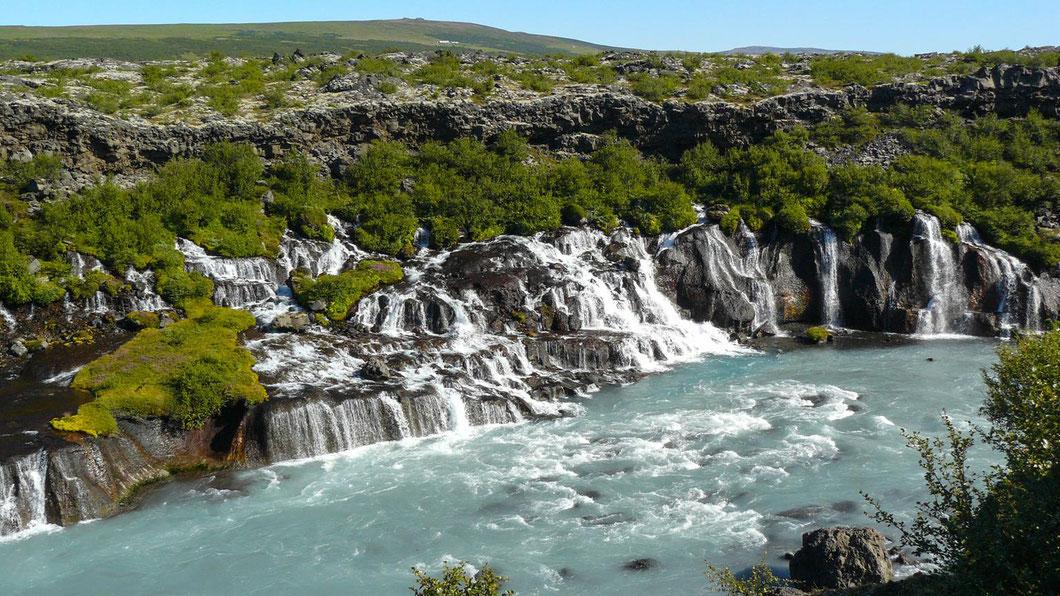 Husafell - Mein persönlicher Lieblingswasserfall, wegen des grünen Wassers