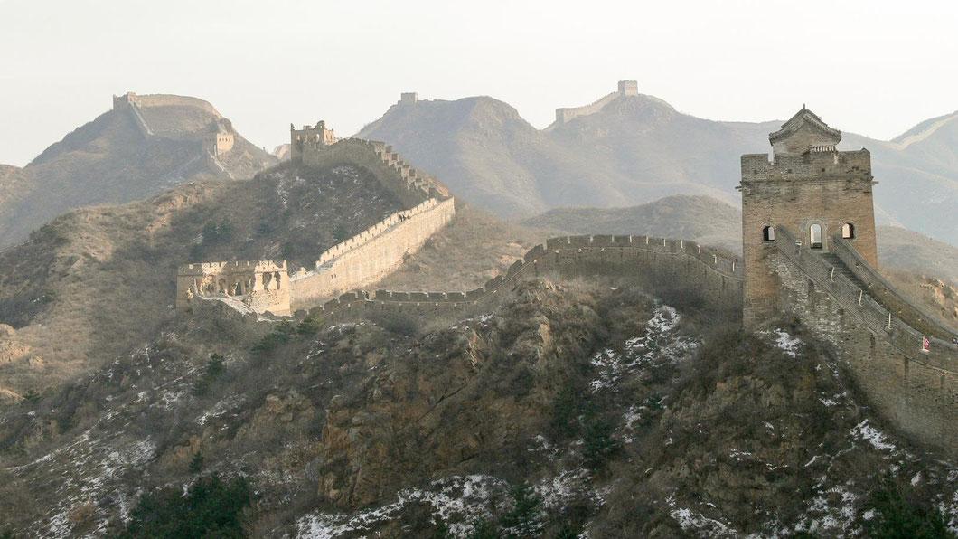 Die große Mauer im Winterdunst