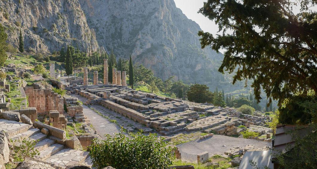 Griechenland Delphi Apollo Tempel Pythia