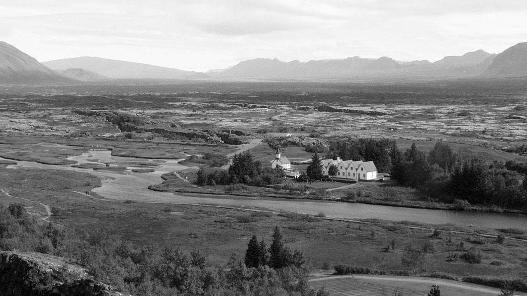 Ein historischer Ort:  In Thingvellir wurden die ersten Versammlungen und Gerichte abgehalten