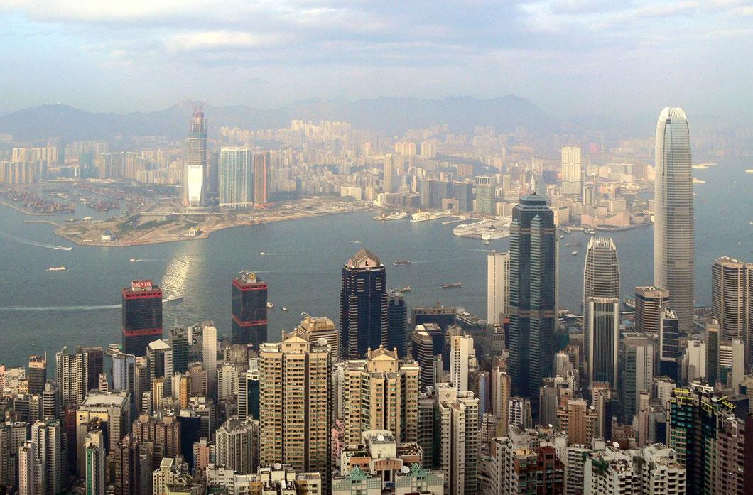 Skyline von Hong Kong vom Victoria Hill