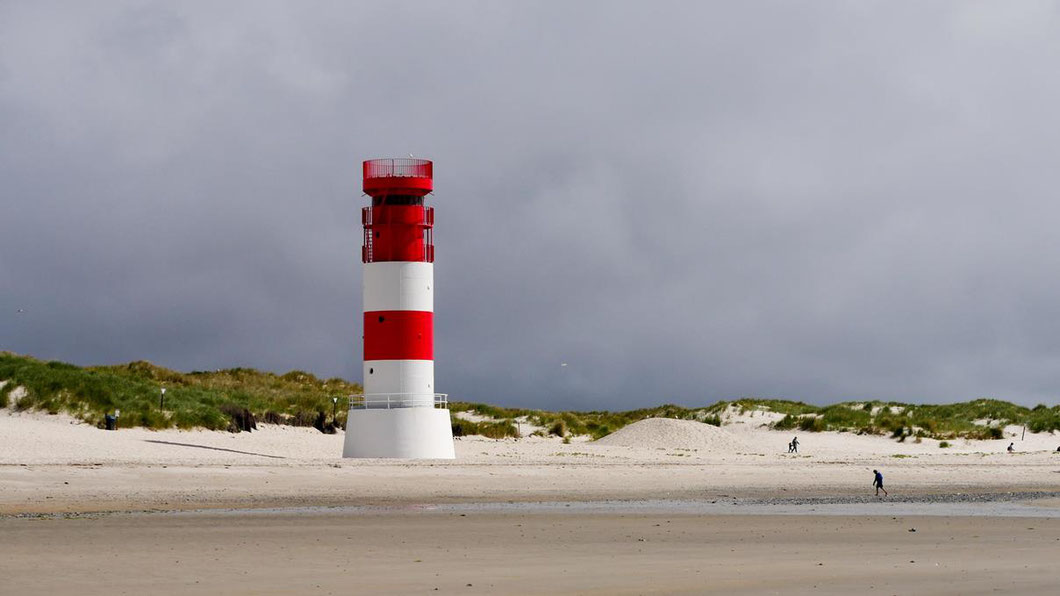 das Leuchtfeuer Helgoland Düne
