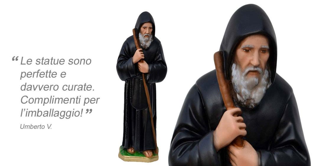 statua San Francesco di Paola cm 28
