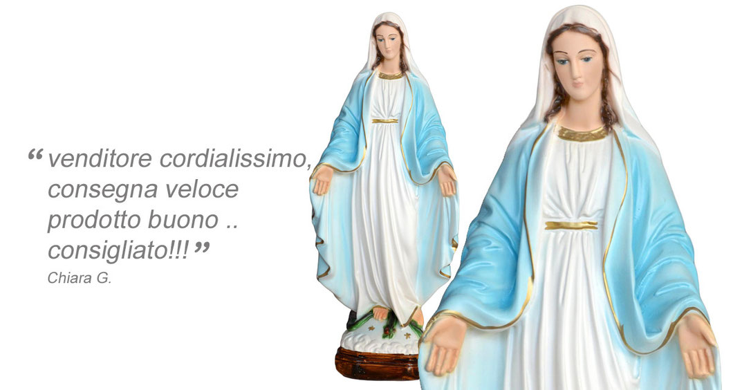 statua Madonna Miracolosa cm 35