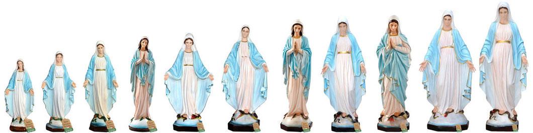 statua Madonna Immacolata illuminata