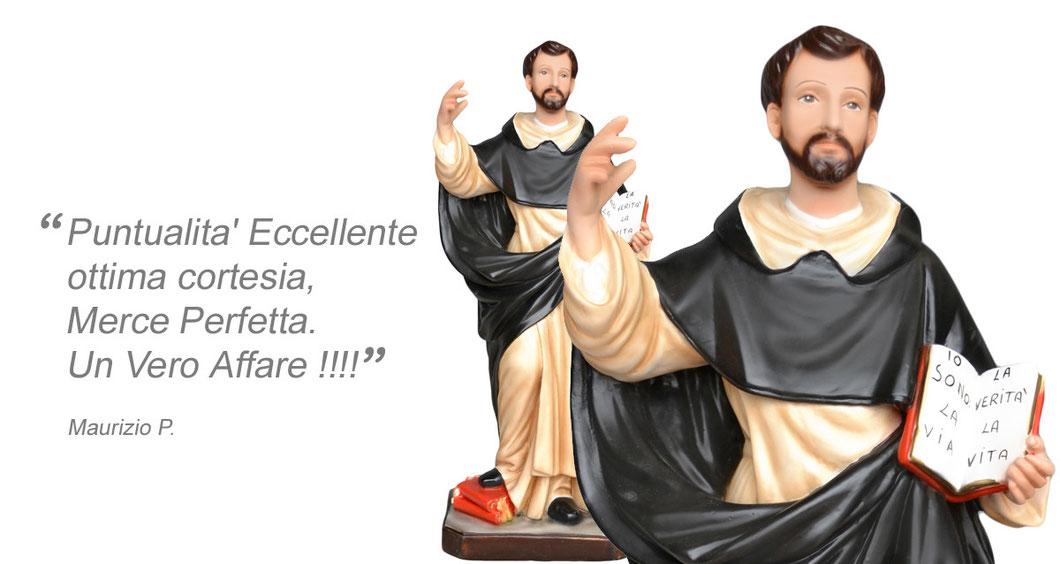statua San Domenico Guzman cm 55