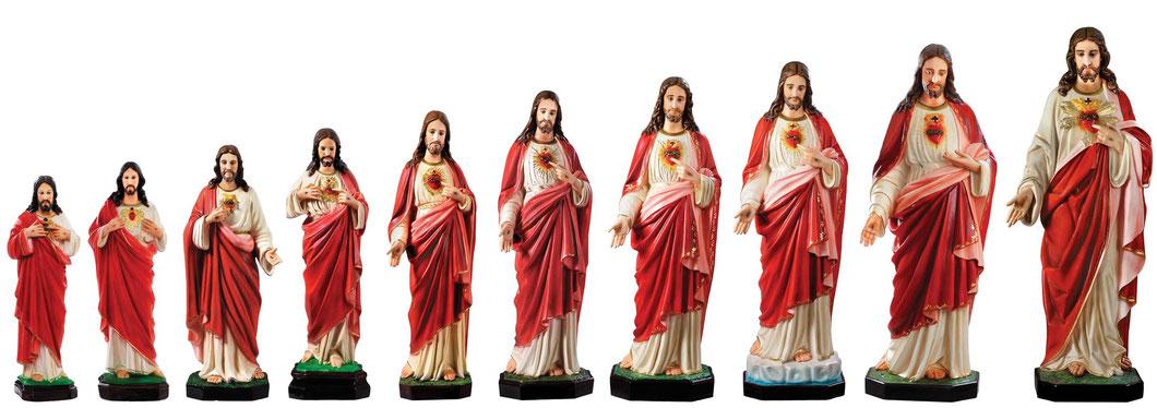 statua Sacro Cuore di Gesù dipinta a mano - Spedizione gratuita