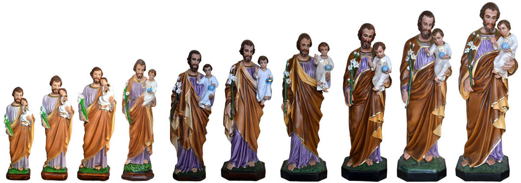 Statua San Giuseppe dipinta a mano - Spedizione gratuita