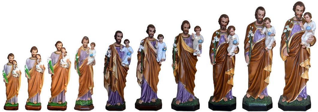 Statua di San Giuseppe in resina - Spedizione gratuita