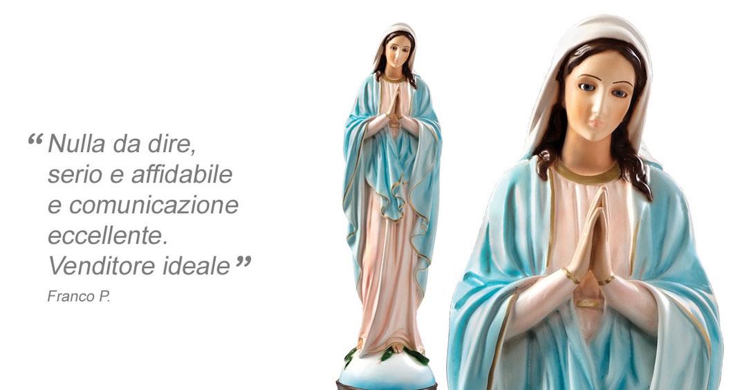 statua Madonna Miracolosa mani giunte cm 60