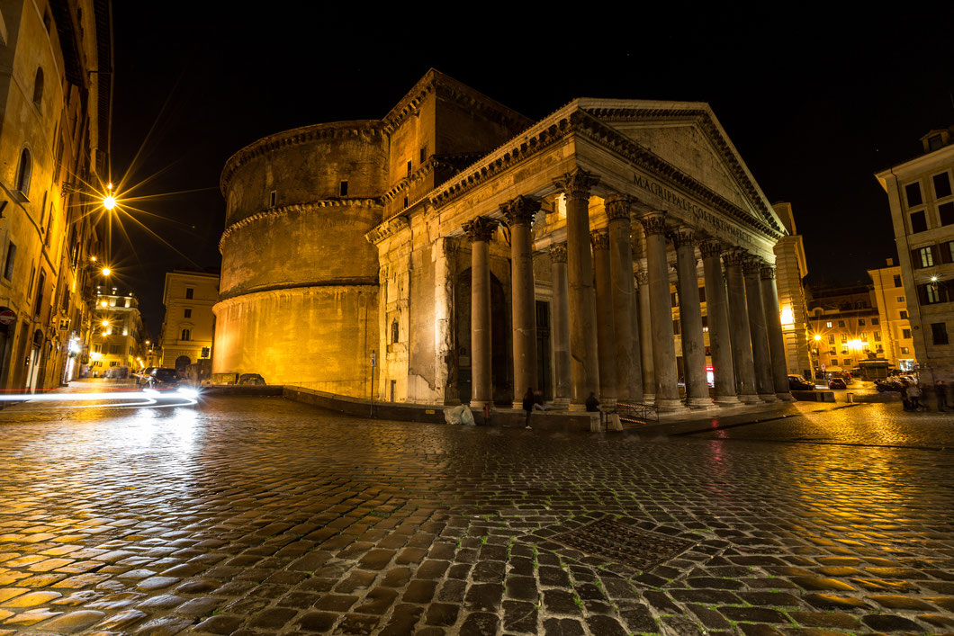 Rome's Pantheon at night