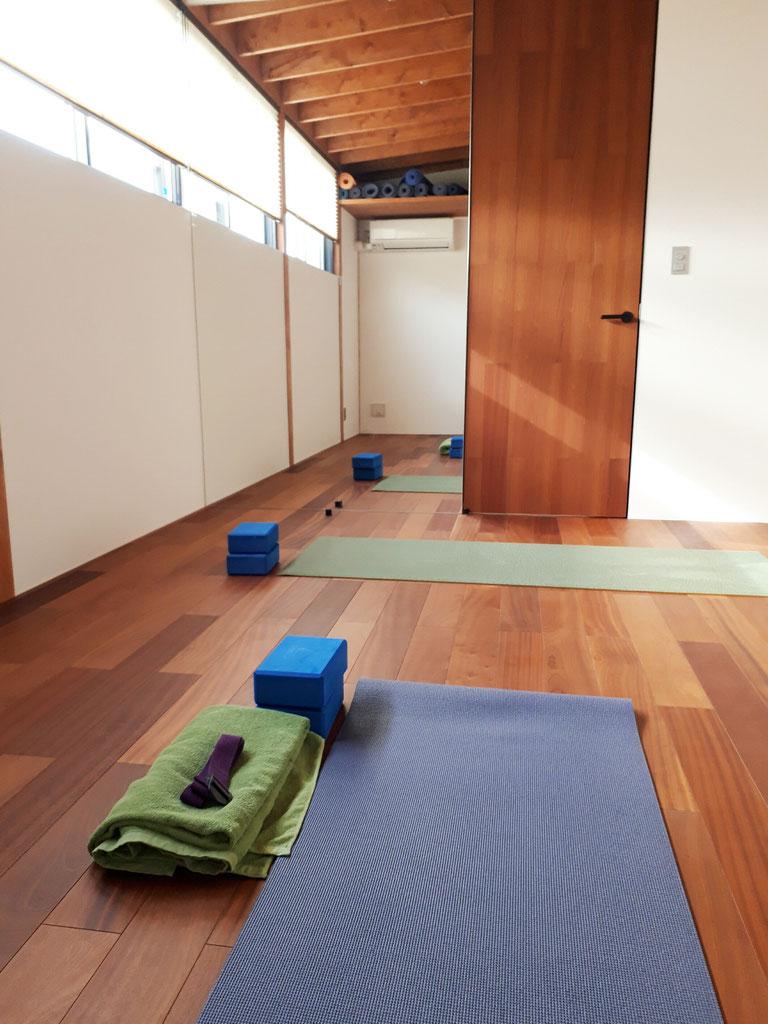 和を基調としたスタジオです。