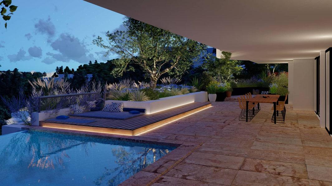 aménagement paysagiste terrasse