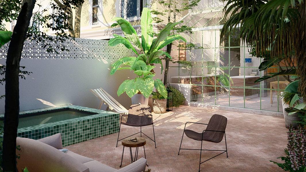 conception d'une jardin urbain sur mesure près de Marseille