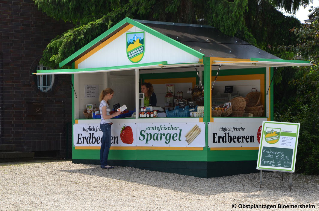 Markthütte 4.0 als Obsthütte Einzelanfertigung