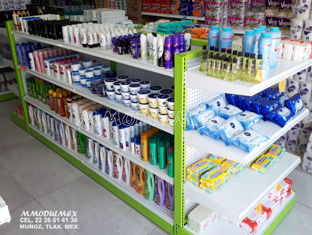 Góndolas metálicas, muebles para farmacia, vitrinas y mostradores para farmacia