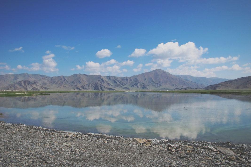 bigousteppes mongolie lac montagne steppes