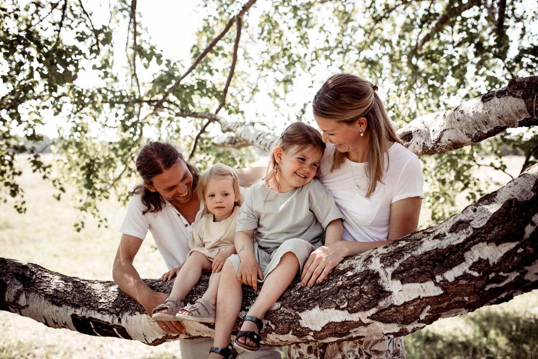 Familien Fotografie - Naturaufnahme