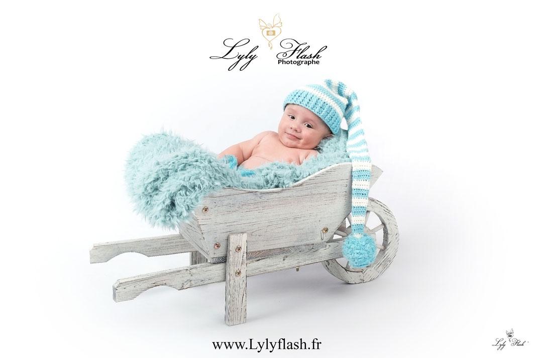 photo photographe bébé brouette var