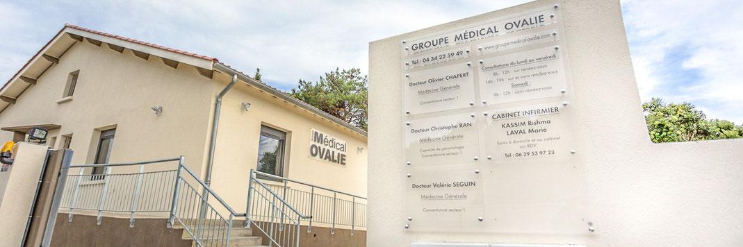 Cabinet groupe médical Ovalie à Montpellier - Accueil des docteurs généralistes Seguin, Chapert et Ran et des infirmières