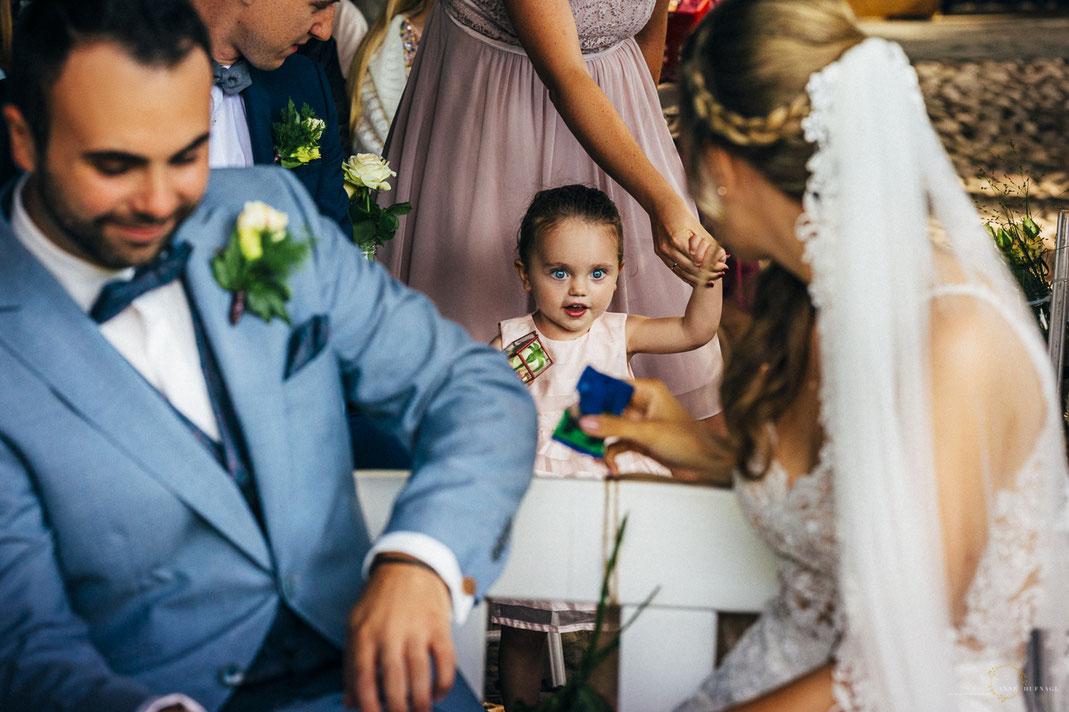 Kind bringt Ringe / Hochzeitsfeier auf Gut Haidehof bei Hamburg