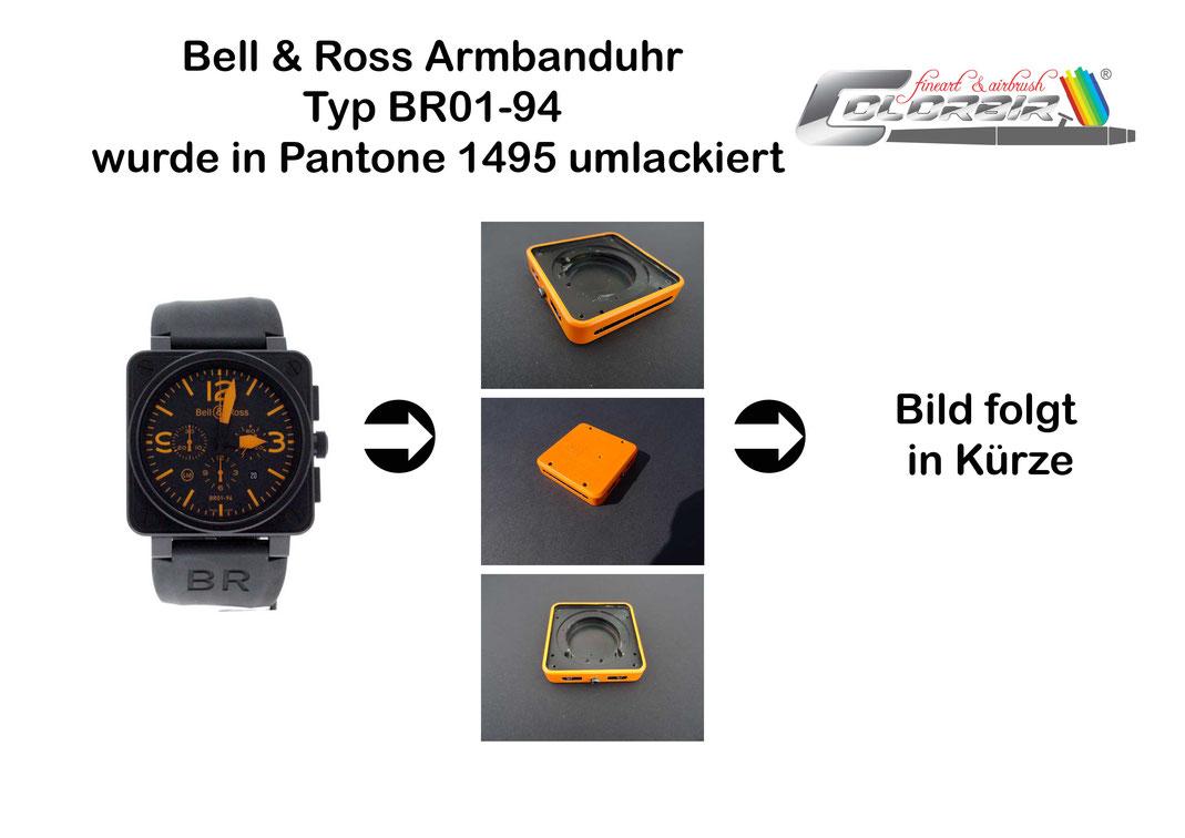 Bell & Ross Armbanduhr Restauration Umlackierung Airbrush