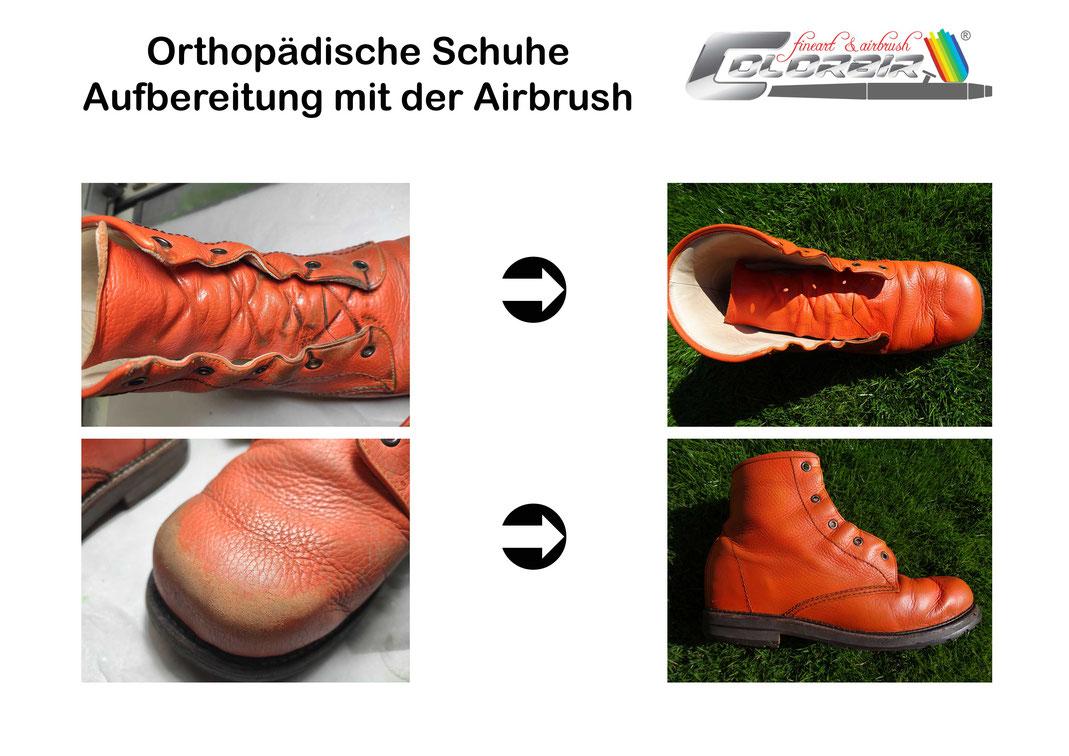 Orthopädische Schuhe Design Lackierung Restauration Aufbereitung Verschönerung