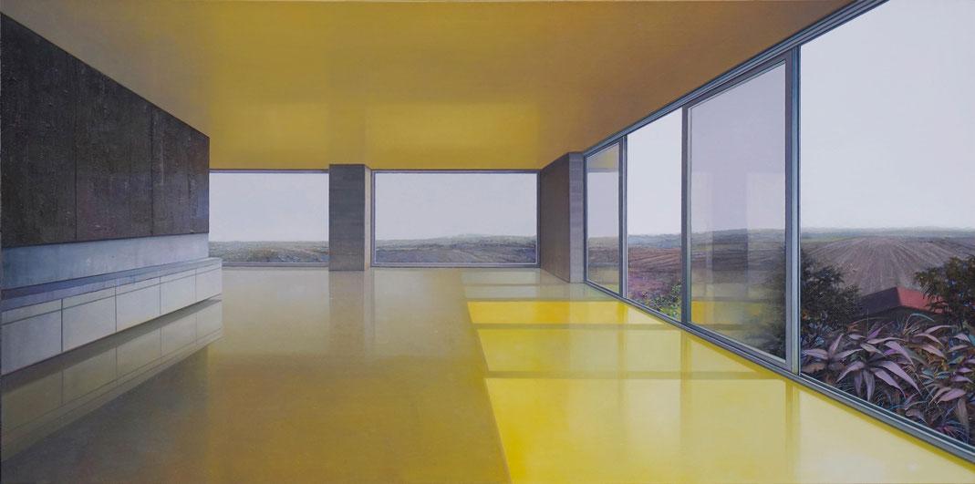 The view, 2020, Öl auf Leinwand, 95 x 190 cm