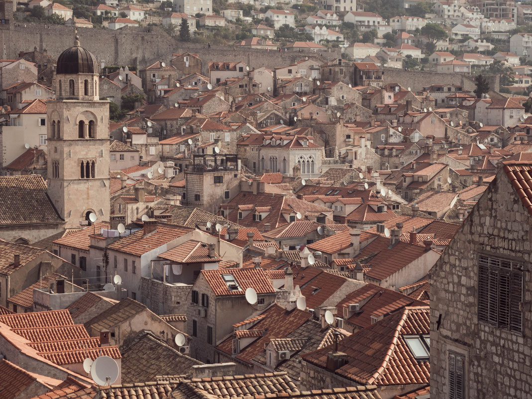 Vue sur les toits de Dubrovnik