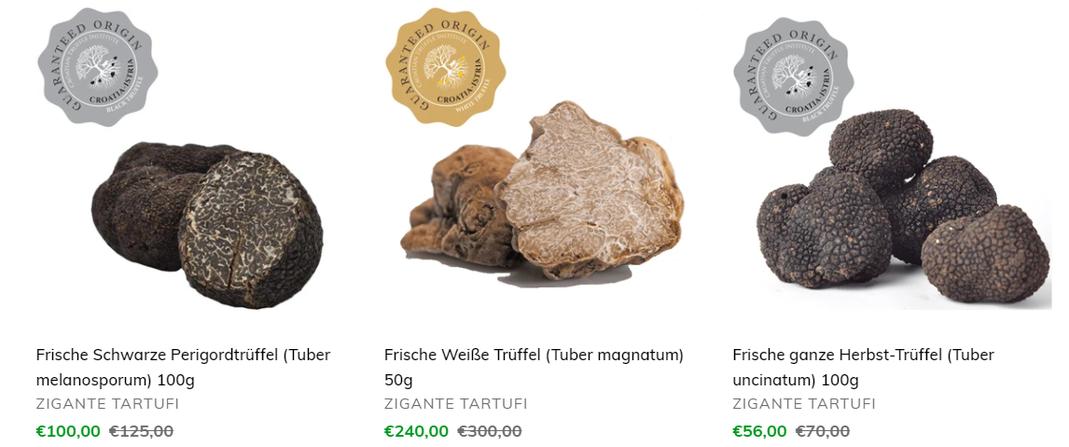 Aktuelle Trueffelpreise 12/2020 - Frische Trüffel kaufen