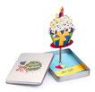 Happy Birthday-Geschenkbox mit Aufsteller Cupcake, Ansicht ohne Geldgeschenke