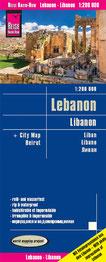 Reise Know-How Landkarte Libanon Reiseführer Libanon