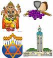 godsdiensten + sociale organisaties