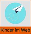 """Grafik von Papierflieger mit dem Vermerk """"Kinder im Netz"""""""