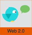 """Grafik von Twitter-Logo mit dem Vermerk """"Web 2.0"""""""