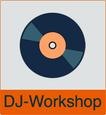 """Grafik von Schallplatte mit dem Vermerk """"DJ-Workshop"""""""