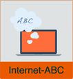 """Grafik von Notebook mit dem Vermerk """"Internet-ABC"""""""