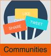 """Grafik von Menschen mit dem Vermerk """"Communities"""""""