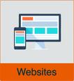 """Grafik von zwei Endgeräten mit dem Vermerk """"Websites"""""""