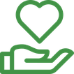 Icon Hand mit einem Herz