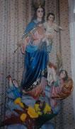 Imagen barcelonesa de la Capilla Salesiana  frente a la oficina del P. Jaime