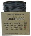 BACKER ROD es un cordón que se utiliza para controlar la profundidad del sellador a fin de crear un apoyo que permita colocar la cantidad correcta de sellador.
