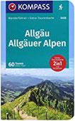 KOMPASS Wanderführer Allgäu, Allgäuer Alpen Wanderführer mit Extra-Tourenkarte 1 40000, 60 Touren, GPX-Daten zum Download.
